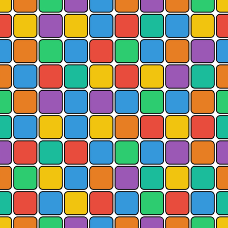 tessera: seamless geometric pattern.colorful background of colored rectangles.vector Illustration