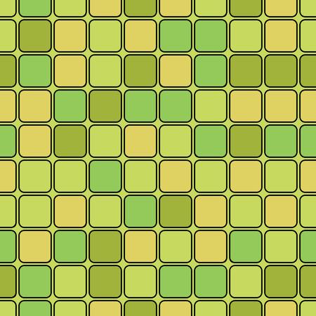 tessera: seamless geometric pattern.design of green and yellow rectangles.vector Illustration