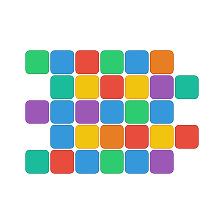 tessera: colorful rectangles isolated on white background.geometric shape of colorful squares.abstract design.vector Illustration