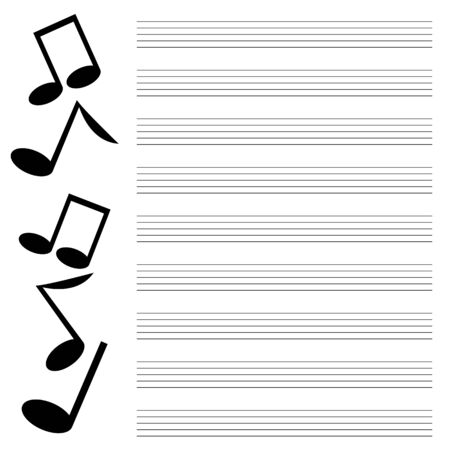 chanson: black music on white background.musical design.music books.vector
