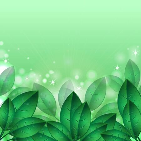 green spring leaves.natural background.floral design.Place for your text. vector