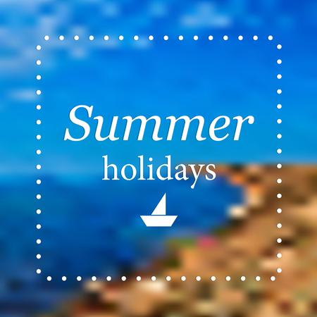 summer's: Abstract summer background Illustration