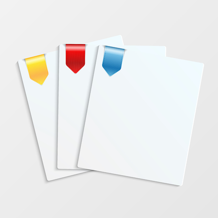 trafficlight: Sheets of white paper with colorful bookmarks and place for your text