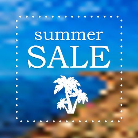 Seasonal Summer Sale Illustration