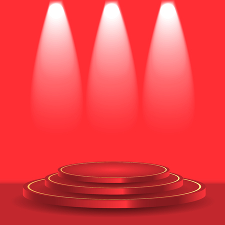 lightening: Scene illuminated by the rays of searchlights Illustration