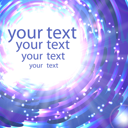 glimmering: Abstract shimmering background in blue colors with place for your text