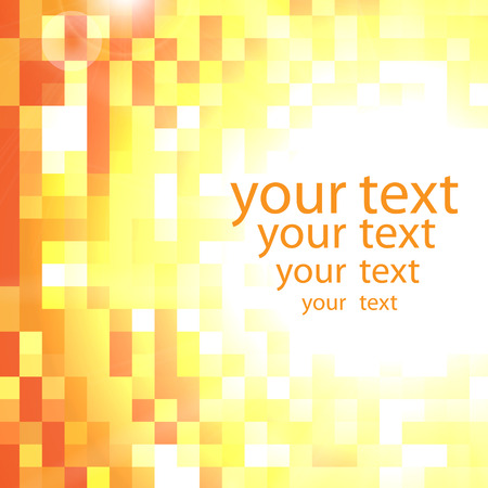 glimmering: Abstract shimmering background in yellow and orange colors with place for your text