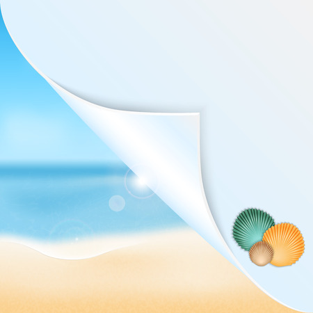 Summer seascape with place for your text