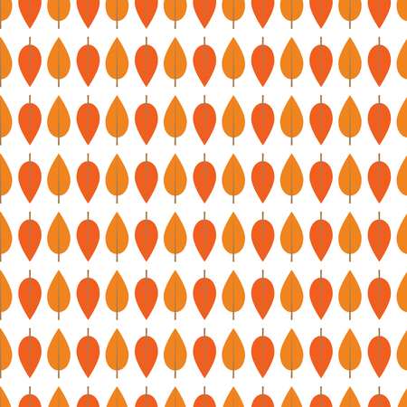 Seamless pattern with  orange autumn leaves