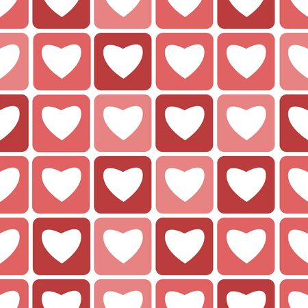 fondness: Seamless pattern with hearts for Valentines Day Illustration