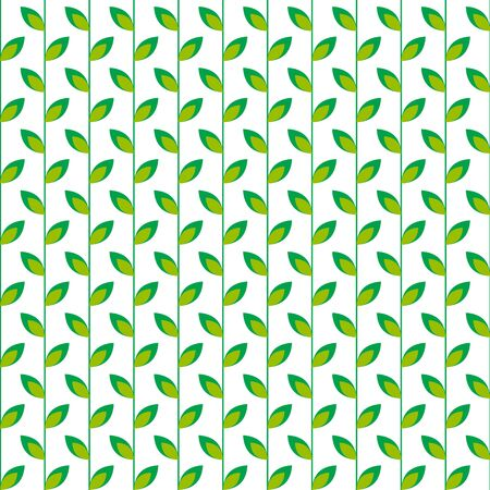 leafed: Seamless pattern with  green leaves on a white background