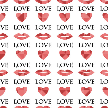 dearness: Seamless pattern with hearts for Valentines Day Illustration