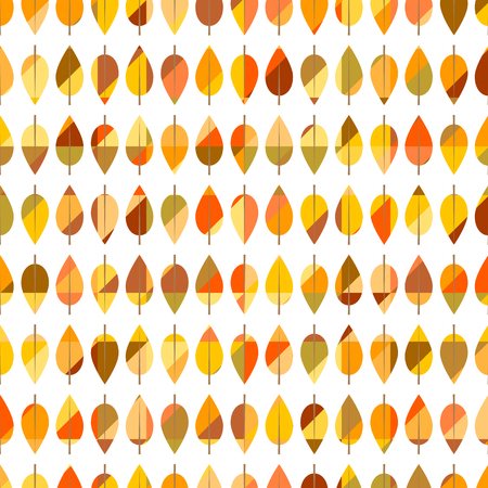 leafed: Seamless pattern from autumn leaves Illustration