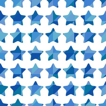rejoice: Seamless pattern of blue stars