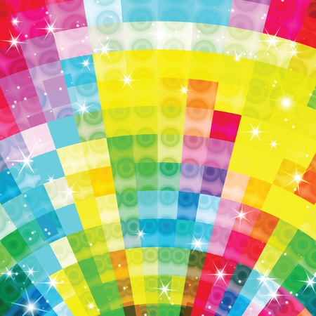 Colorful geometric shimmering background