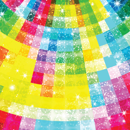 medley: Colorful geometric shimmering background