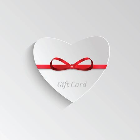 felicitation: Gift card in the form of heart for Valentines day Illustration