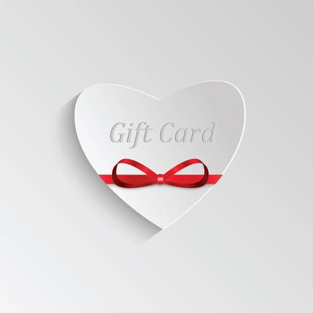 Gift card in the form of heart for Valentines day Illustration