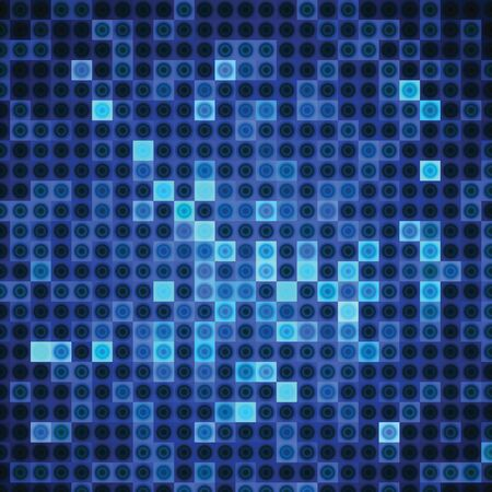 rectangles: Abstract background of blue rectangles and circles Illustration