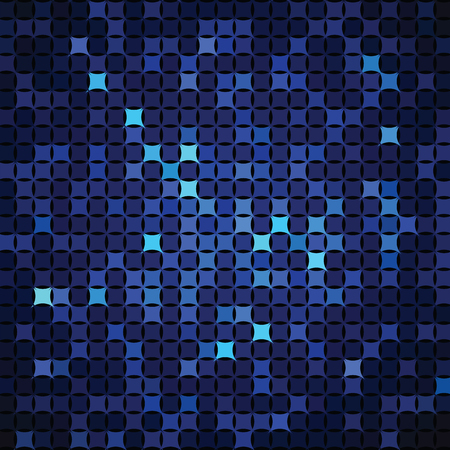 paperhanging: Abstract background of blue shapes Illustration
