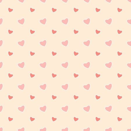 Seamless pattern with hearts for Valentines Day Illustration