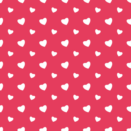 paperhanging: Seamless pattern with hearts for Valentines Day Illustration