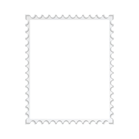 credence: Blank stamp frame Isolated on white background