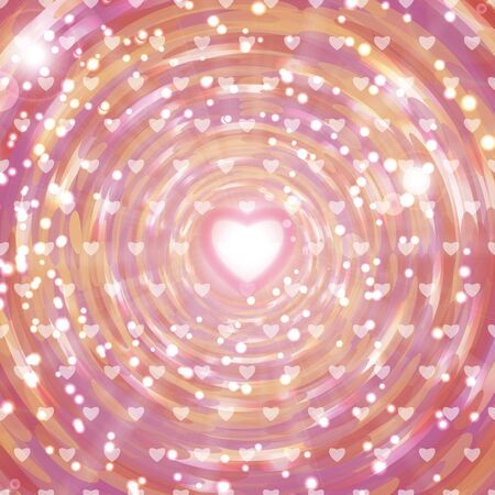 light hearted: Background with hearts  for Valentines Day Illustration