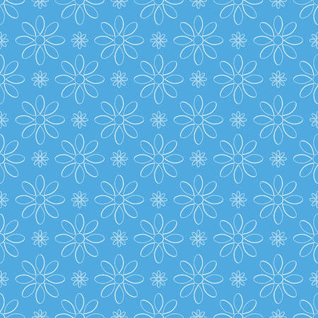 Abstract   floral pattern.Flowers on  blue Illustration