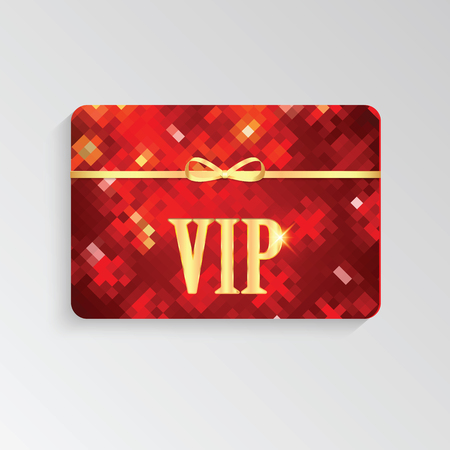 prestige: VIP cards with gold letters and ribbon.Elegant invitation VIP card
