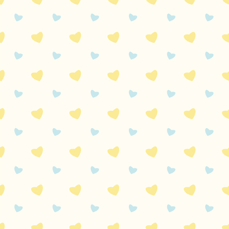 hearty: Seamless pattern with hearts for Valentines Day .Simple print of colorful hearts
