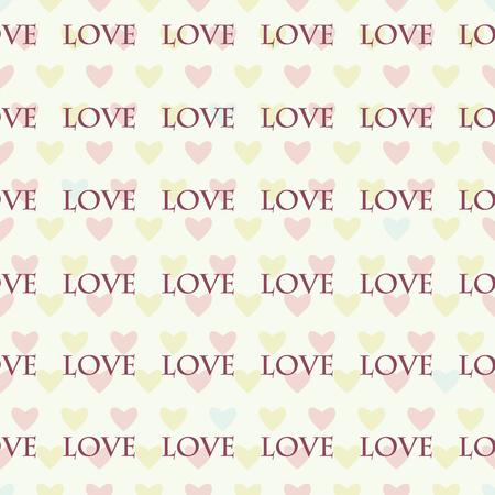Bezszwowy wzór z sercami dla walentynka dnia Prosty druk kolorowi serca