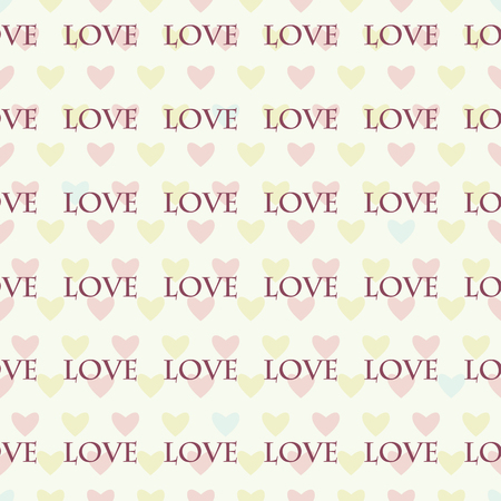 Seamless pattern with hearts for Valentines Day .Simple print of colorful hearts