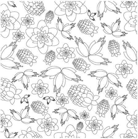 jointless: pattern from berries and flowers on a white background Illustration