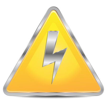 dangerously: high voltage sign on a white background