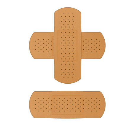 medical patch isolated on white background