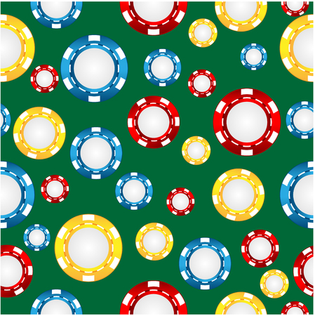 cheques: seamless pattern of the game of casino chips