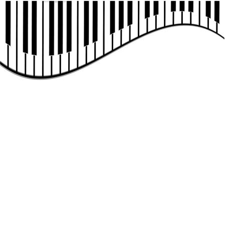 tasti del piano su uno sfondo bianco Vettoriali