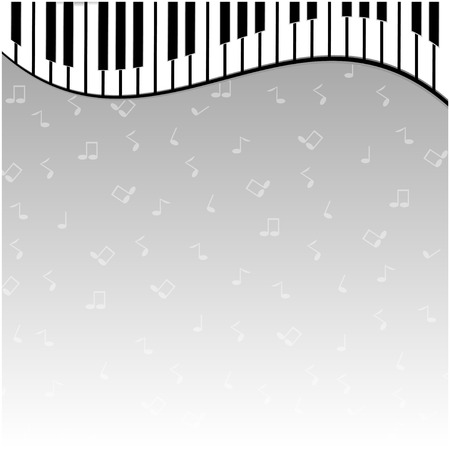 operetta: piano keys on a gray background