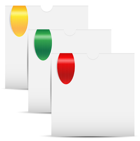 folders of white color with the coloured book-marks