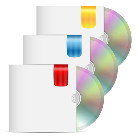 set of disks is in the envelopes of white color