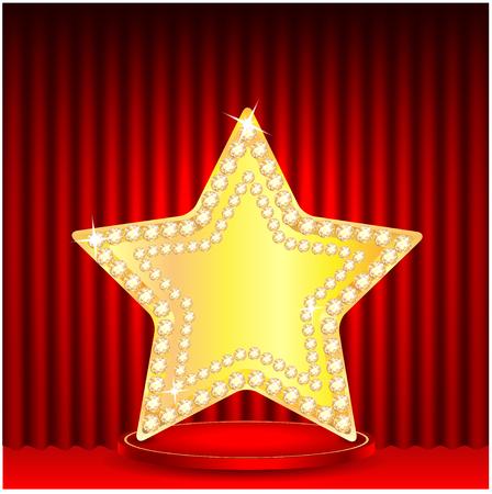 gold star on a podium