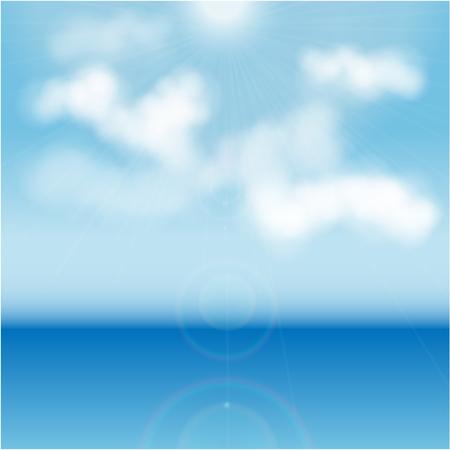 a wonderful world: White clouds over blue sea