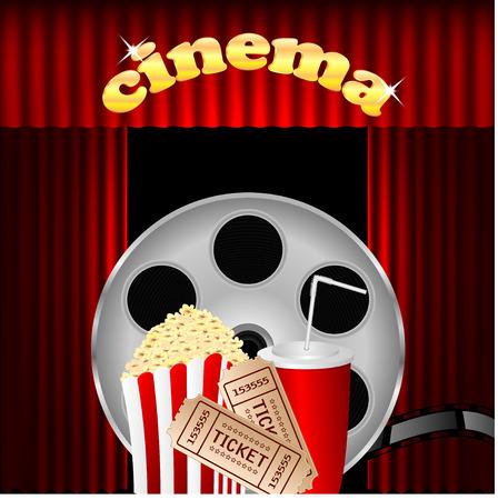 illustration of the cinema