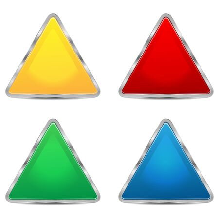 set of sign-boards of different colors Illustration