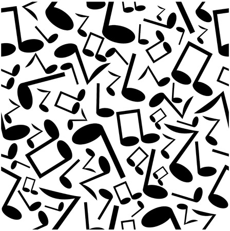 operetta: seamless pattern of the notes