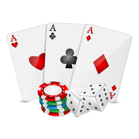 ardour: vector Illustration of a background with casino elements