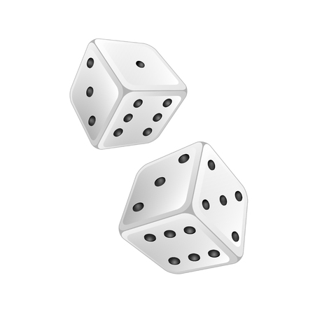 rival: white dice on a white background