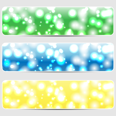set of abstract shiny backgrounds Illustration