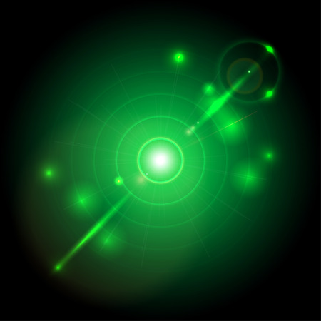 abstract glowing background with a target Illustration